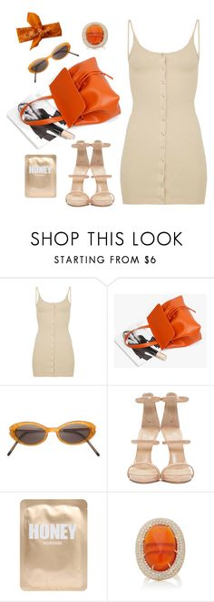 """Orange Drama  #fashion #polyvore #beauty #orange #drama #dress  @polyvore"" by luciargx ❤ liked on Polyvore featuring Yohji Yamamoto, Giuseppe Zanotti, Lapcos and Pamela Huizenga"