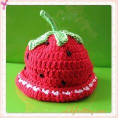 Cute berry style beanie!  Source: http://media-cache-ec0.pinimg.com/736x/d7/dd/a6/d7dda6c61c05e6c38502fefbcda7bc06.jpg