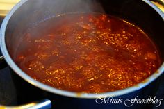 Selbst gemachte BBQ Sauce für Pulled Pork aus dem Backofen