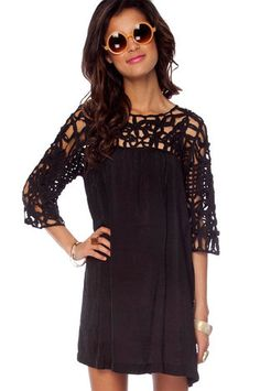 Ooh, love it in black! It's still sold out though. :-( See It Through Dress $48 at www.tobi.com