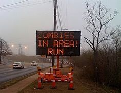 if i was riding down the road and saw this i would be freaking out...cause i didnt pack my weapons.