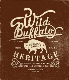 OLD AMERICAN RODEO LABEL AND T-SHIRT PRINT SERIES