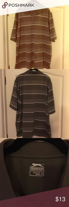 Men's SS golf shirt Slazenger men's SS 100% polyester shirt Shirts Polos