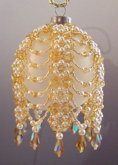 seed bead christmas ball ornament - Google Search
