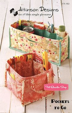 Pockets To Go sewing organizer pattern by by MoonlightMercantile