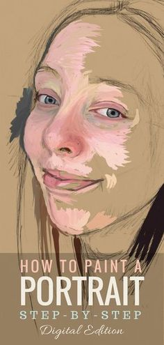 How to paint a portrait step-by-step #art #painting