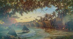 Latte village Guahan Stone Tattoo, Guam, Island Life, Beautiful Islands, Mariana, Forts, Latte, Sword, Spanish