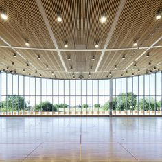 Monconseil Sports Hall- Ceiling sags in the middle. Beautiful form.
