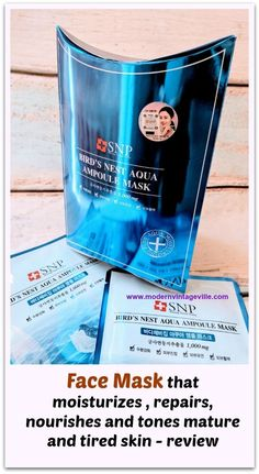 Sheet masks are perfect addition to your regular skin care routine.  They are infused with serum or essence that is specifically designed to deliver amazing ingredients to your skin.  SNP Bird's Nest Aqua Ampoule Mask is a unique sheet mask that moisturizes, repairs, nourishes and rejuvenates tired, dry and/or mature skin.