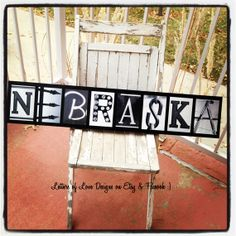 Ready to Ship  Large NEBRASKA Wood Sign  8 by LettersOfLoveDesigns, - Huskers, Cornhuskers, Football, Man cave, great for gift, present, Christmas, Birthday, Wedding and more.