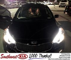 https://flic.kr/p/Dk87C4 | Happy Anniversary to Sherry on your #Kia #Forte from Clinton Miller at Southwest Kia Mesquite! | deliverymaxx.com/DealerReviews.aspx?DealerCode=VNDX
