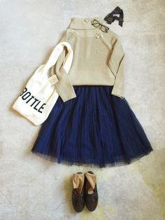 ナチュラル服のイタフラ │italie to franceのスカートコーディネート-WEAR