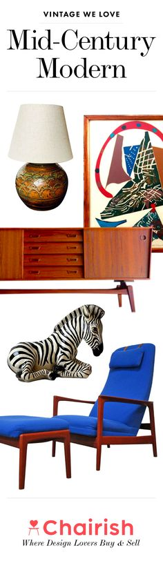 Step back in time with the effortless polish and sleek lines of Mid-Century Modern design. �Never go out of style - shop from the best collections of fabulous vintage at Chairish.