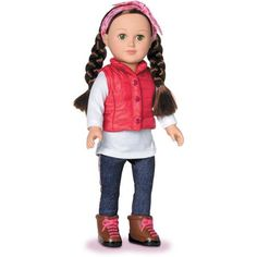 """My Life As Outdoorsy Girl 18"""" Doll, Brunette- cuter than Target's brand"""