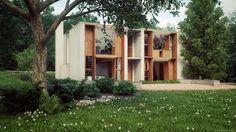 Louis Kahns Esherick House by Ludvik Koutny - Ronen Bekerman 3d architectural visualization blog