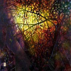 "Oil on Linen with a 3"" deep stretcher - Original - 48"" x 48"" ~ $5200.00 - Giclée on Canvas 30"" x 30"" - enhanced by the artist $650"