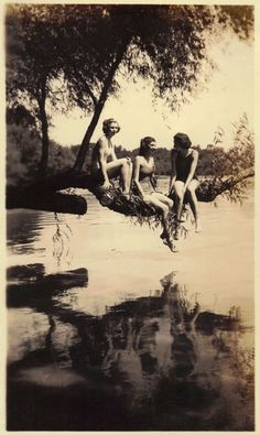 Vintage photo...the old swimming hole.