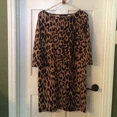 Limited leopard dress New without tags. 95% polyester 3% spandex The Limited Dresses