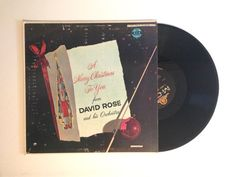 FALL SALE Vinyl Record A Merry Christmas To You David Rose Lp Album Come All Ye Faithful Good King 1956
