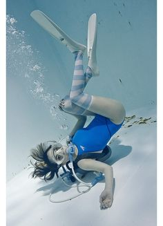 underwater knee high girls manabu koga sexy cosplay swim