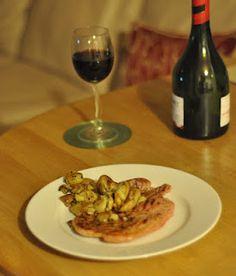 Gammon Steak with Garlic and Rosemary Crushed New Potatoes