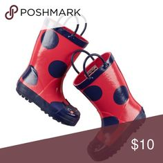 Carter's Rain Boots Red and blue lady bug rain boots from Carter's. Toddler size 11. Carter's Shoes Rain & Snow Boots