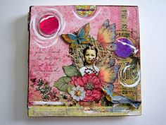 "Mixed Media ART JOURNAL Handmade Blank Journal  ""Her Calling"" by IMGirl / Etsy $38.50"