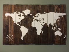 World Map, Rustic wood map 24x38 by TheTealPlank on Etsy https://www.etsy.com/listing/240856624/world-map-rustic-wood-map-24x38