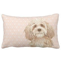 Labradoodle Love™: products on Zazzle Labradoodle Dog, Australian Labradoodle, White Pillows, Throw Pillows, Lumbar Pillow, Dogs, Pink, Design, Decor