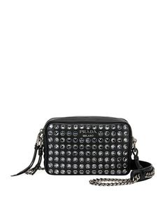 d7efed81f1e7 Diagramme Studded Camera Bag Prada Bag, Chanel Boy Bag, Calf Leather, Crossbody  Bags