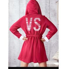 New Victoria's Secret Red Sherpa-Lined Hood Robe New! Victoria's Secret Intimates & Sleepwear Robes