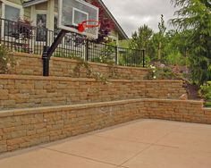 Pro fixed height basketball unit has a tempered glass backboard, offset and gymnasium quality breakaway rim, indestructible! Backyard Playground, Backyard Games, Backyard Projects, Backyard Landscaping, Backyard Ideas, Playground Ideas, Patio Ideas, Backyard Sports, Backyard Basketball