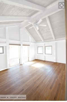 BZ: I love the color of this ceiling... light blue paint with white joists...