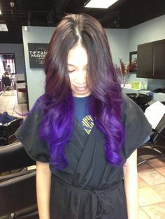 Gorgeous purple dip dye