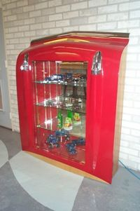 57 Chevy hood display cabinet