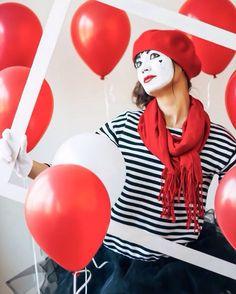 Mime Makeup, Female Clown, Costume Ideas, Costumes, Clowns, Instagram Posts, Tops, Women, Fashion