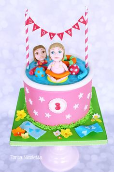 Pool party cale Pool Party Cakes, Pool Cake, Party Themes, Theme Parties, Party Ideas, Beach Cakes, Tropical Pool, Cake Decorating, Birthday Cake