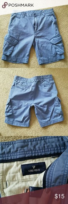Men's Cremieux Shorts Men's Cremieux Shorts.  Grayish/Bluish I'm color. Size 34. Cam be dressy or casual. Excellent condition! Cremieux Shorts Cargo