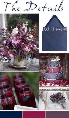 Gorgeous Colours!! Pocketful of Dreams, Wedding Planners, Wedding Stylists, Wedding Design, Wedding Planning, Wedding Mood Board, Wedding Inspiration, Winter, Blue, Plum, Purple, Decadent,