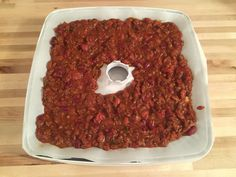 Dehydrating a homemade backpacking meal