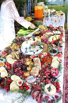 Wedding Reception Food The latest wedding foodie trend: Wedding Grazing Tables - Wow your guests with the latest food trend - a beautiful wedding grazing table, piled high with delicious antipasti, charcuterie, and dips! Party Platters, Food Platters, Cheese Platters, Cheese Table, Reception Food, Wedding Reception, Wedding Food Tables, Wedding Ideas, Wedding Inspiration