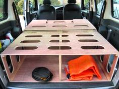 got a car with a big boot, build a camper in it and ride off into the sunset! Using a bit of plywood and some screws you can make yourself a simple camp. Travel Camper, Car Camper, Mini Camper, Camper Trailers, Camper Van, Camper Life, Minivan Camping, Truck Camping, Camping Glamping