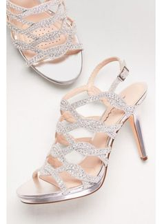 b1249f70b537 Touch of Nina Grey (Crystal-Embellished Caged Platform Heels) Davids  Bridal