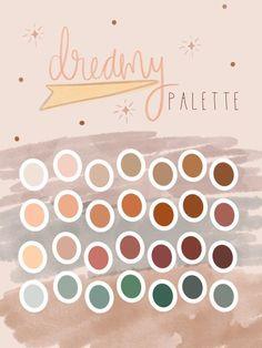 Dreamy Procreate Palette Colour Pallette, Colour Schemes, Color Combinations, Ipad Art, Color Harmony, Posca, Colour Board, World Of Color, Color Stories