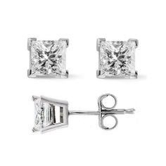 0.74 Ct. Princess Cut Diamond Stud Earrings by McQueen Jewelry (G, VVS2) Platinum, Push Back McQueen Jewelry. $2749.99. 100% Natural Diamonds & Hassle Free Returns. The perfect gift for an anniversary, birthday, baptism, Christmas, graduation, or any celebration you want to make into a cherished memory.. 0.74 Total Carat Weight. You don't have to sacrifice glamour just because you don't have a superstar budget. We offer amazing diamond pieces at exceptional pri...
