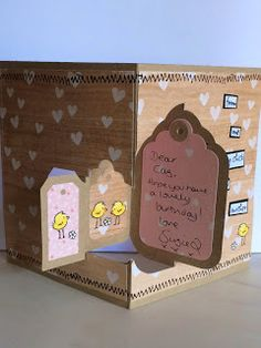 Suzie Q's Crafty Creations Elizabeth Crafts Tag Pivot Card Elzybells