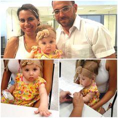 Isadora, de 8 meses, filha do colaborador Natanael de Oliveira e de Gabriela da Silva. tirou seu primeiro RG no Poupatempo Franca.