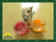 $30  These glasses are real glass set inside removable plastic inserts to make them look like tulips! :) You may serve hot or cold beverages in the
