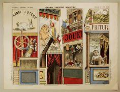 Imagerie d'Épinal, No 1665. Grand Théâtre Nouveau. Coulisses de la Fête foraine.
