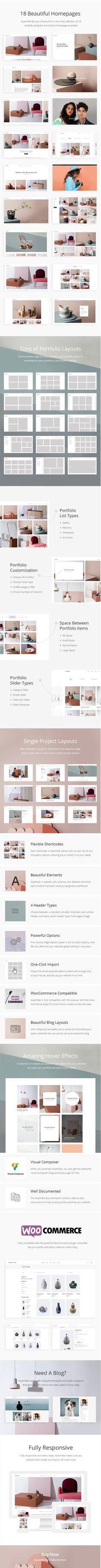 Assemble - A Contemporary Portfolio Theme #blog #clean #design • Download ➝ https://themeforest.net/item/assemble-a-contemporary-portfolio-theme/16966325?ref=pxcr